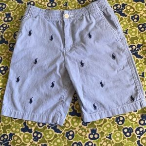 Tartan polo draw string shorts